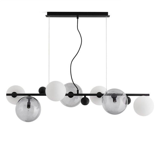 Φωτιστικό οροφής από φιμέ γυαλί και μέταλλο, Bullesco