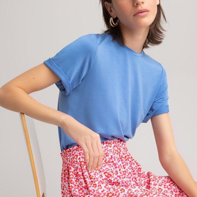 Μπλούζα με στρογγυλή λαιμόκοψη από lyocell