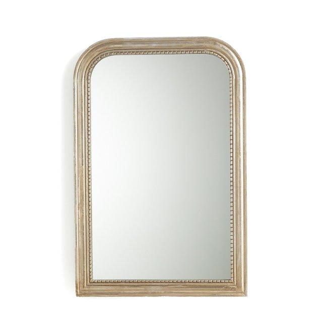 Καθρέφτης από μασίφ ξύλο μάνγκο Υ90 εκ., Afsan