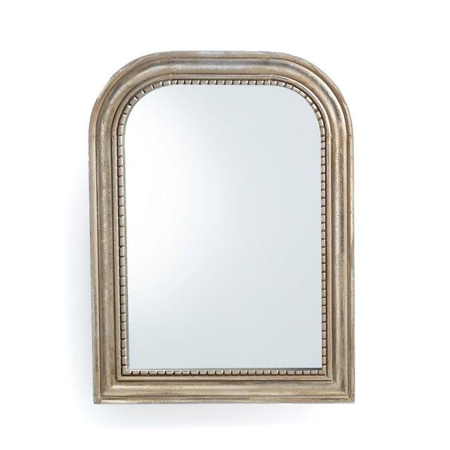 Καθρέφτης από μασίφ ξύλο μάνγκο Υ60 εκ., Afsan