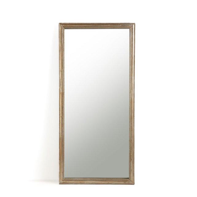 Ορθογώνιος καθρέφτης από μασίφ ξύλο μάνγκο Υ170 εκ., Afsan