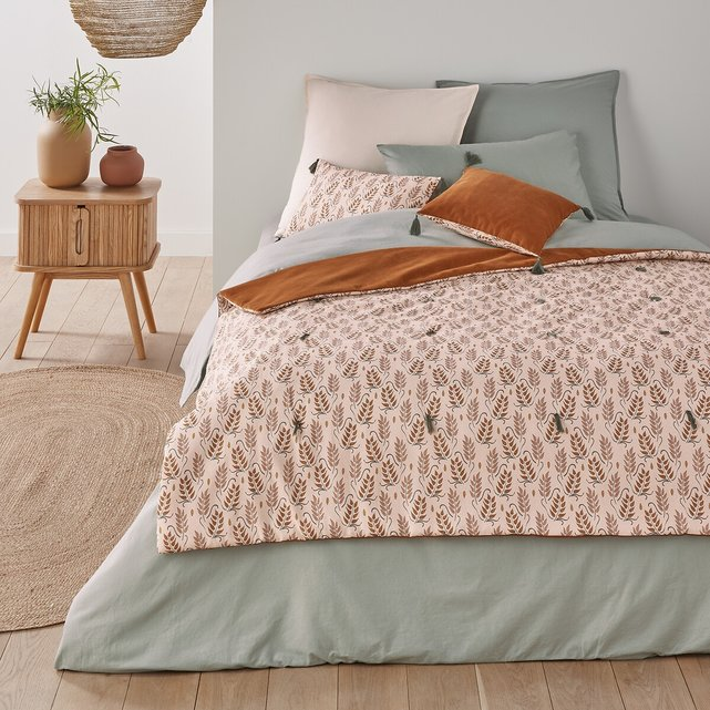 Κάλυμμα κρεβατιού διπλής όψης από βελούδο και προπλυμένο βαμβάκι, Dario