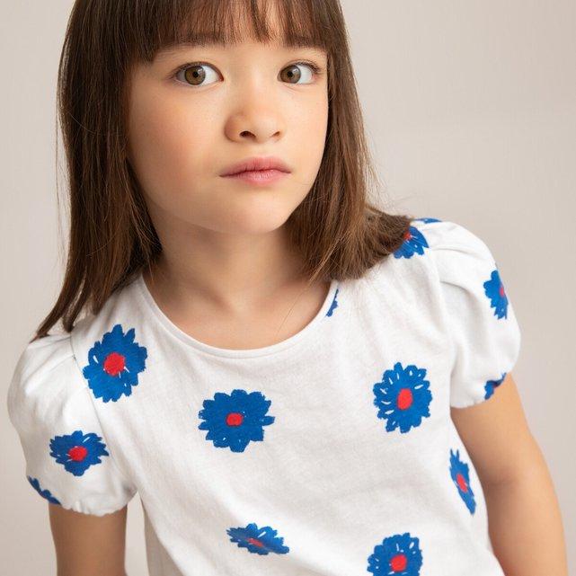 Μπλούζα με balloon μανίκια και στάμπα, 3-12 ετών
