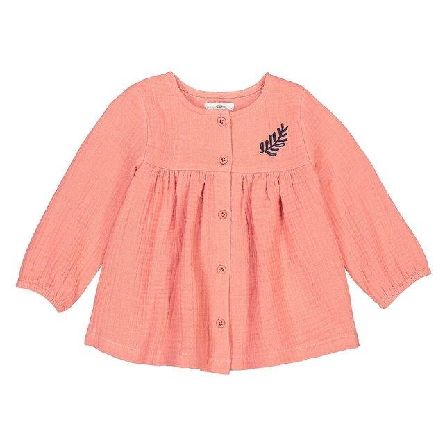 Μακρυμάνικη μπλούζα από βαμβακερή γάζα, 3 μηνών - 4 ετών