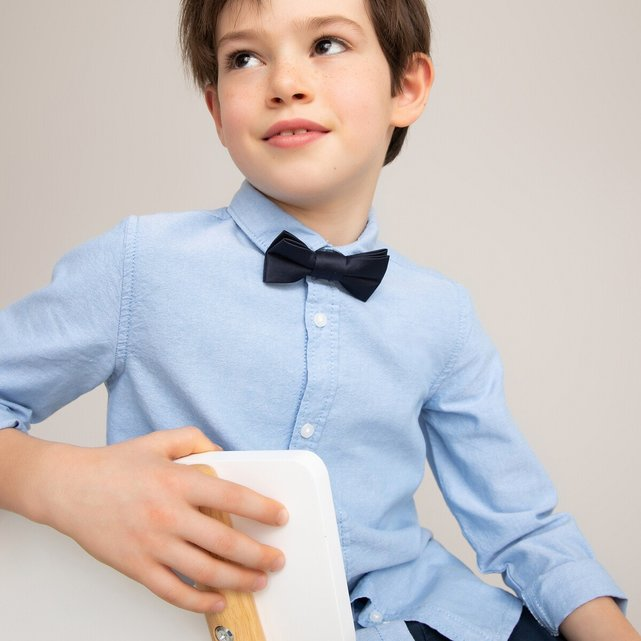 Πουκάμισο με αφαιρούμενο παπιγιόν, 3-12 ετών