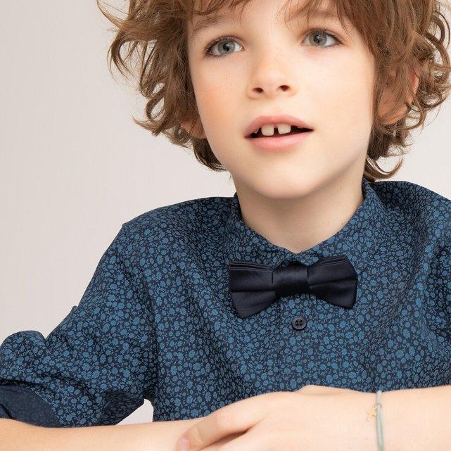 Εμπριμέ πουκάμισο με αφαιρούμενο παπιγιόν, 3-12 ετών