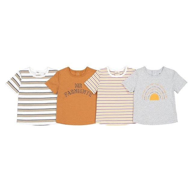 Σετ 4 μακρυμάνικες μπλούζες από οργανικό βαμβάκι, 1 μηνός - 4 ετών