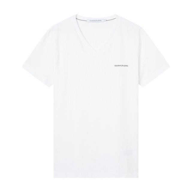 T-shirt με V σε slim γραμμή, Micro CK