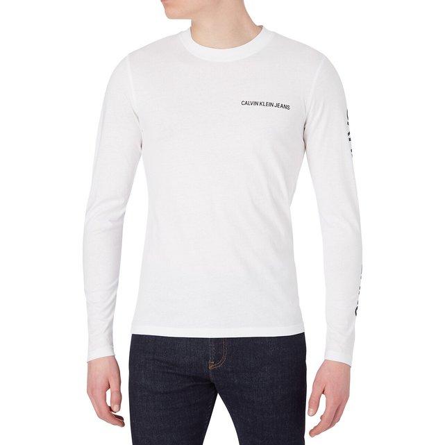 Κοντομάνικο T-shirt με στρογγυλή λαιμόκοψη, Horizontal CK Panel