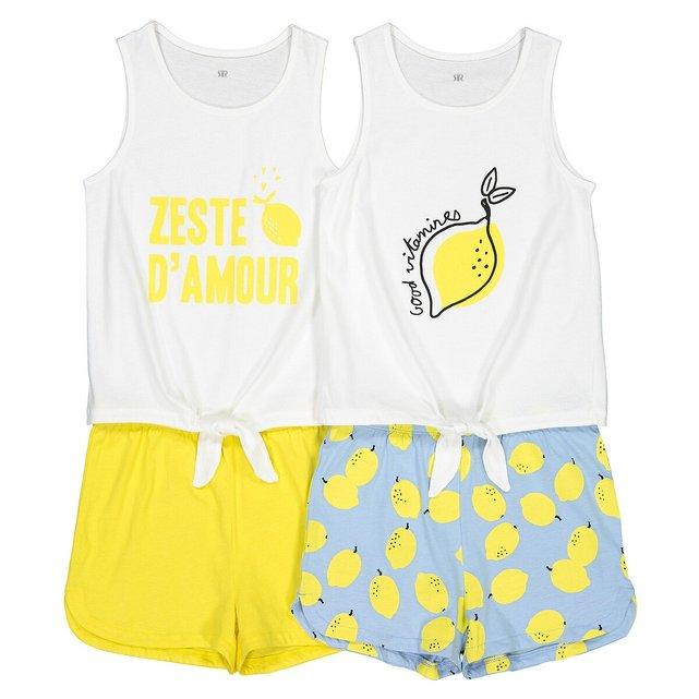 Σετ 2 πιτζάμες με σορτς από βιολογικό βαμβάκι, 3-12 ετών