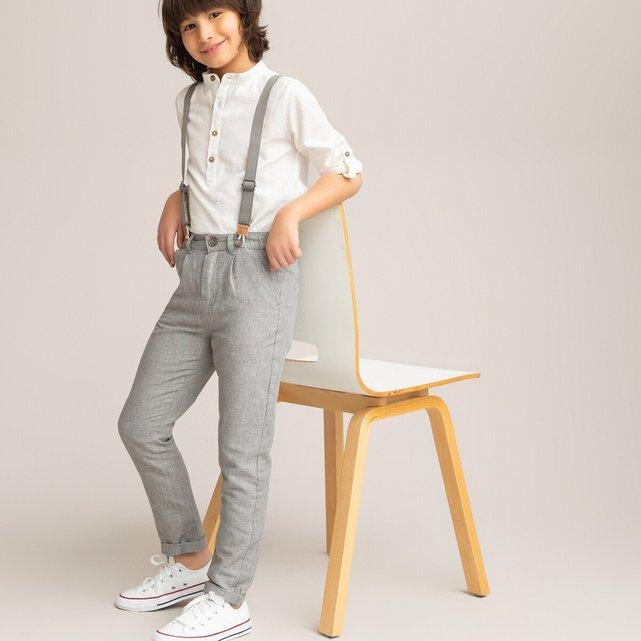 Παντελόνι chino με αφαιρούμενες τιράντες, 3-12 ετών