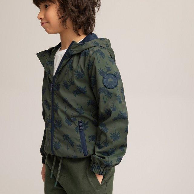 Αντιανεμικό μπουφάν με κουκούλα και μοτίβο φοίνικες, 3-12 ετών