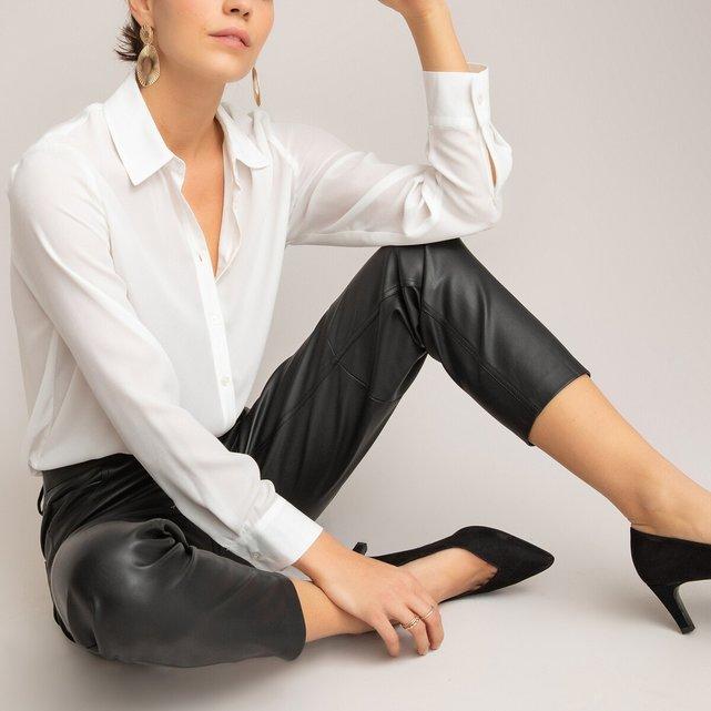 Παντελόνι slim από συνθετικό δέρμα