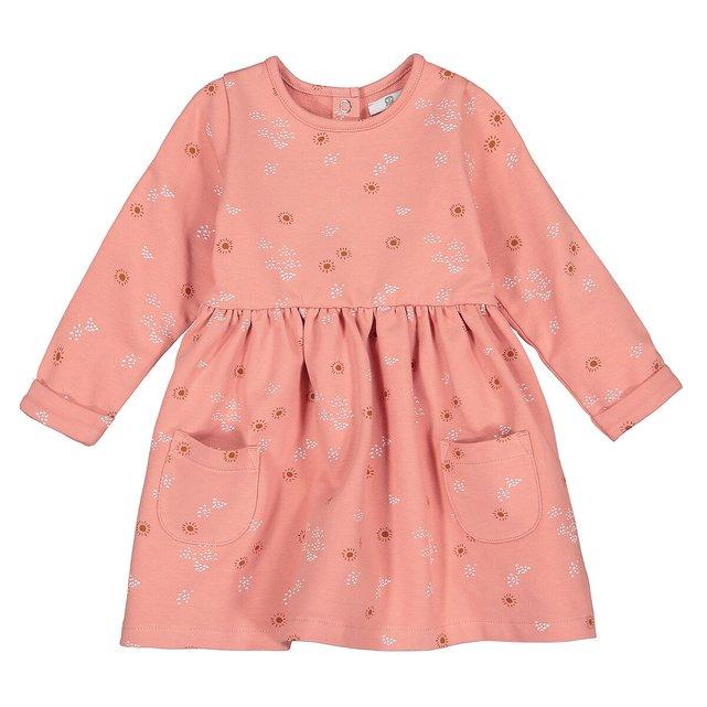 Εμπριμέ φόρεμα από βιολογικό βαμβάκι, 3 μηνών - 4 ετών