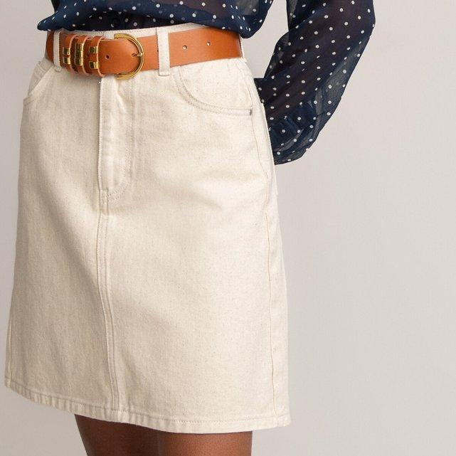 Κοντή τζιν φούστα από βιολογικό βαμβάκι