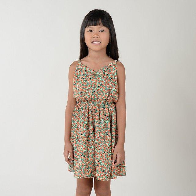 Εμπριμέ φλοράλ φόρεμα, 4-14 ετών