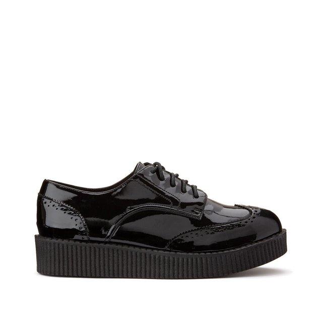 Δετά παπούτσια λουστρίνι για φαρδύ κουντεπιέ, μεγέθη 38-45