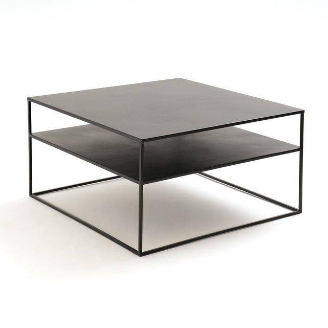 Τετράγωνο χαμηλό τραπεζάκι από μέταλλο, Hiba