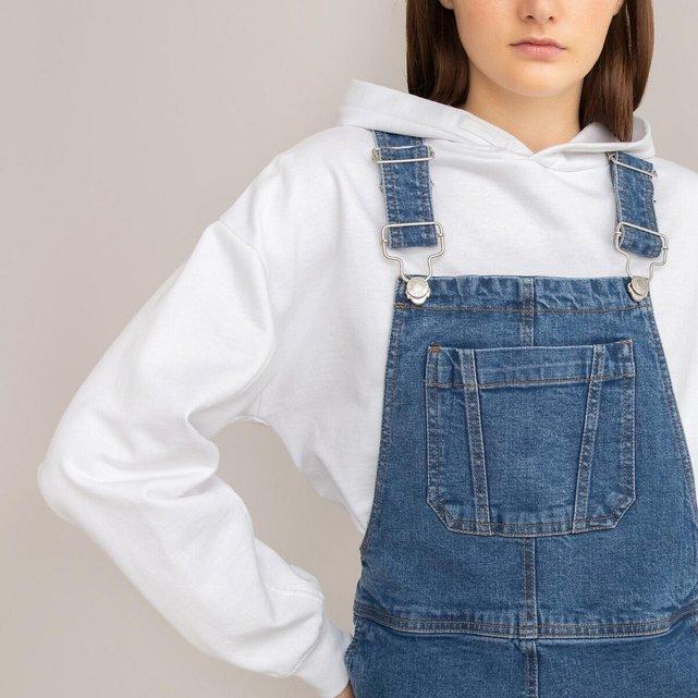 Κοντό φούτερ με κουκούλα από βιολογικό βαμβάκι, 10 - 18 ετών