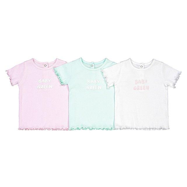 Σετ 3 ριμπ μπλούζες από βιολογικό βαμβάκι, 3 μηνών - 4 ετών