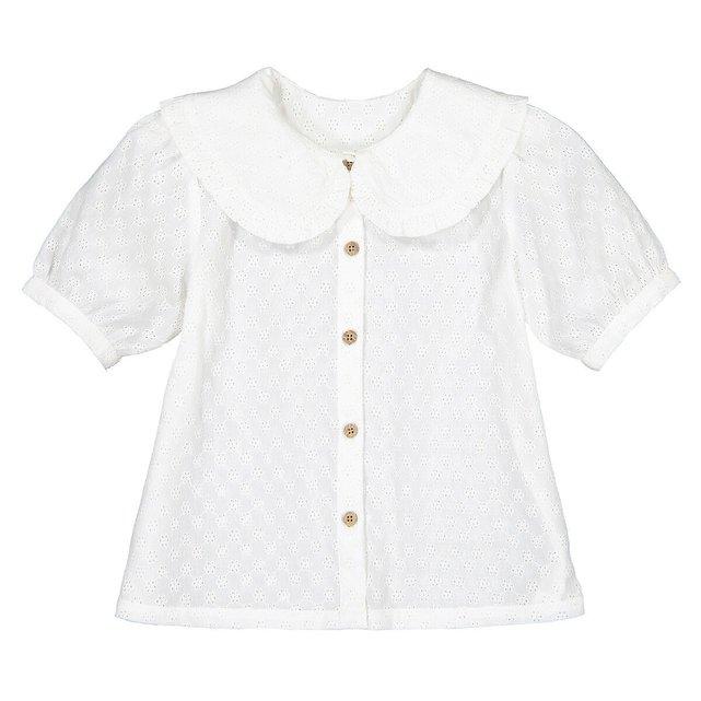 Μπλούζα με στρογγυλό γιακά, 3-12 ετών