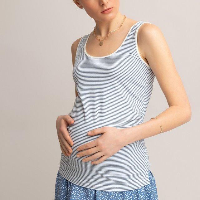 Σετ 2 αμάνικες μπλούζες εγκυμοσύνης από βιολογικό βαμβάκι