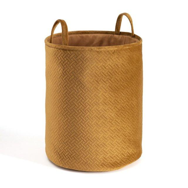 Τετράγωνο καλάθι για άπλυτα από βελούδο, Gary