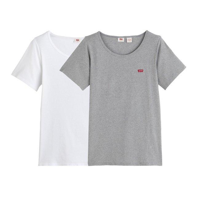 Σετ δύο βαμβακερά Τ-shirt με λογότυπο μπροστά