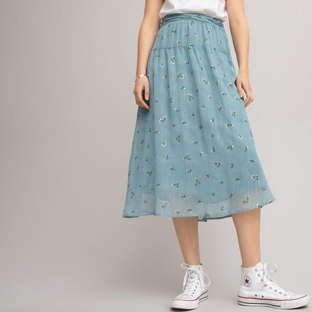 Χυτή φλοράλ φούστα