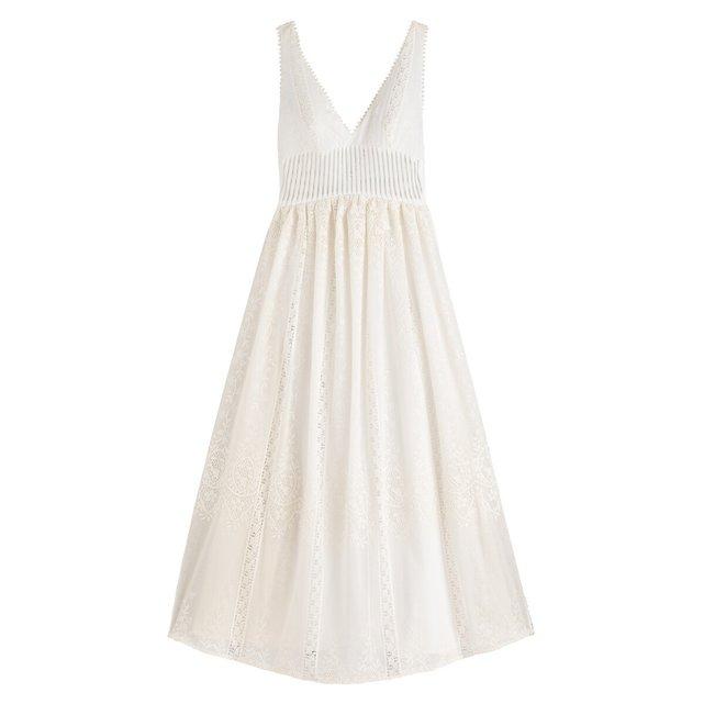 Αμάνικο μακρύ νυφικό φόρεμα