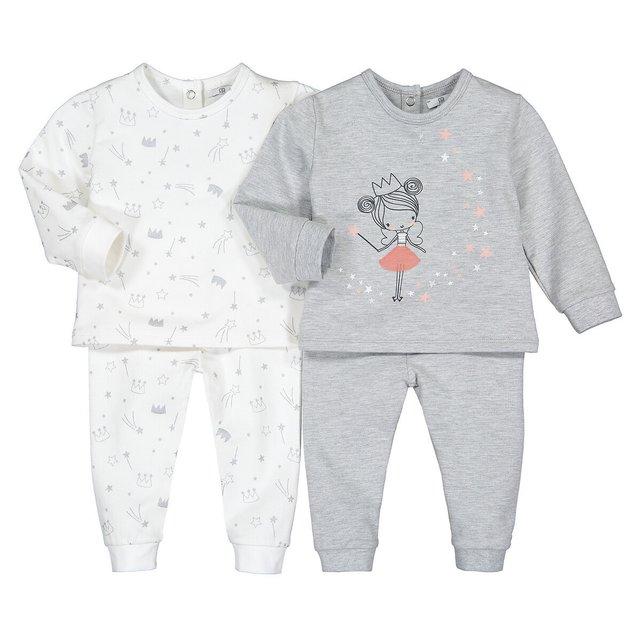 Σετ 2 πιτζάμες από βιολογικό βαμβάκι, 6 μηνών - 4 ετών