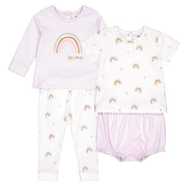 Σετ 2 βαμβακερές πιτζάμες, 6 μηνών - 4 ετών