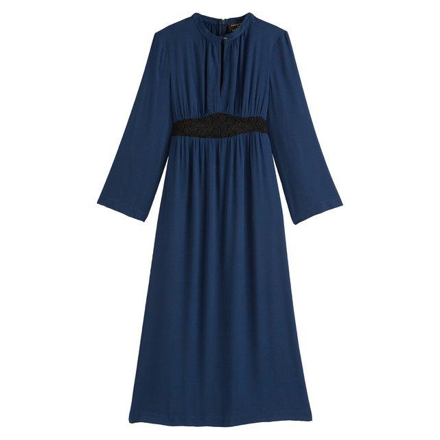 Μακρυμάνικο μακρύ φόρεμα σε ίσια γραμμή