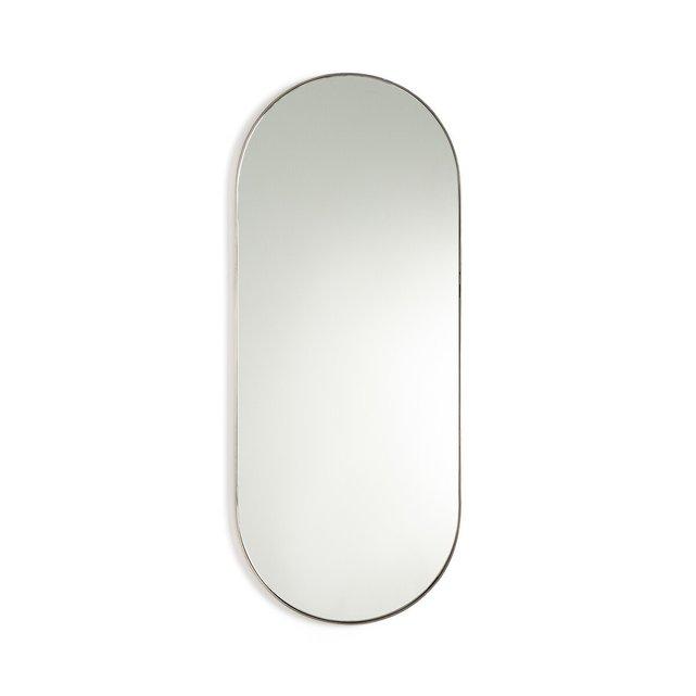 Μεταλλικός καθρέφτης με μπρονζέ παλαιωμένο φινίρισμα Υ80 εκ., Caligone