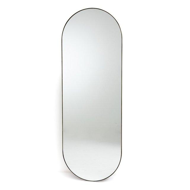 Μεταλλικός καθρέφτης με μπρονζέ παλαιωμένο φινίρισμα Υ150 εκ., Caligone