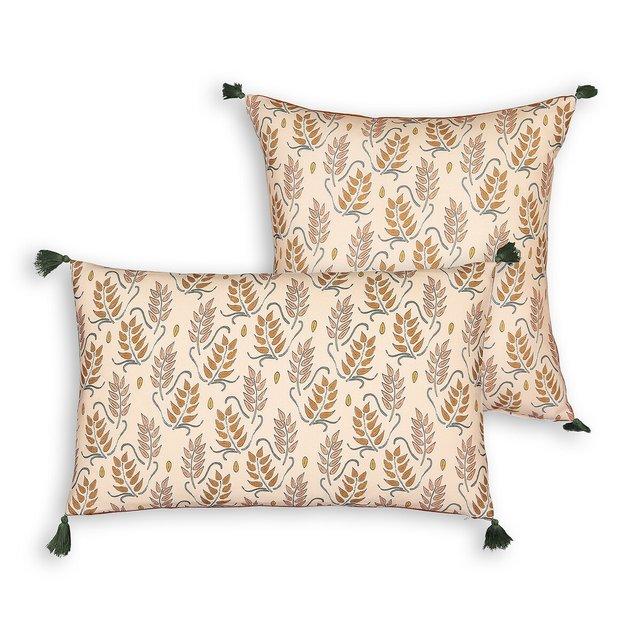Θήκη για μαξιλάρι από προπλυμένο βαμβάκι και βελούδο, Dario