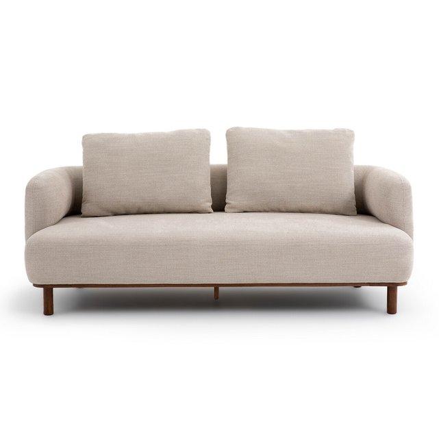 Καναπές 4 θέσεων με ανάγλυφη ταπετσαρία, Papoo