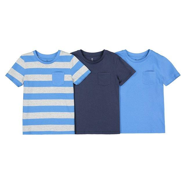 Σετ 3 κοντομάνικα T-shirt με στρογγυλή λαιμόκοψη, 3-12 ετών