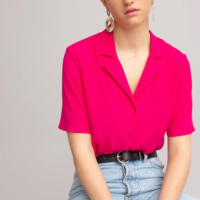 Κοντομάνικο πουκάμισο με πέτο γιακά
