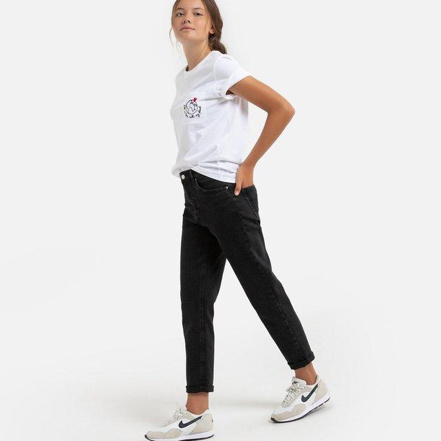 Ψηλόμεσο τζιν mom fit, 10-18 ετών