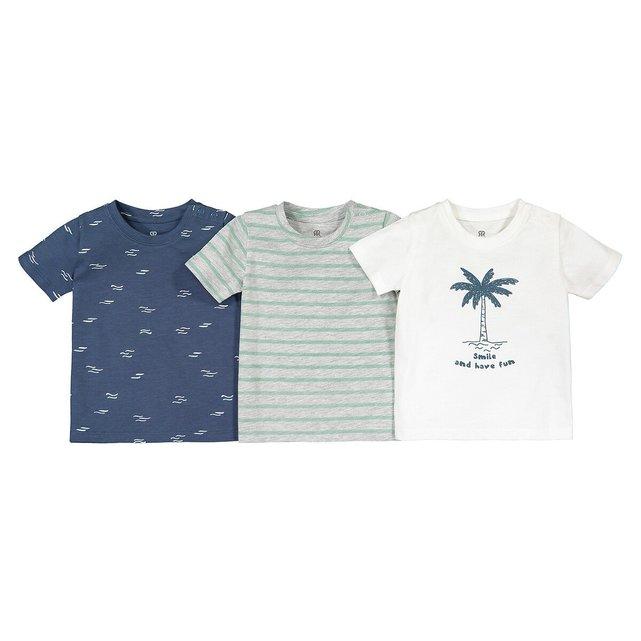 Σετ 3 κοντομάνικα T-shirt από βιολογικό βαμβάκι, 1 μηνών - 4 ετών