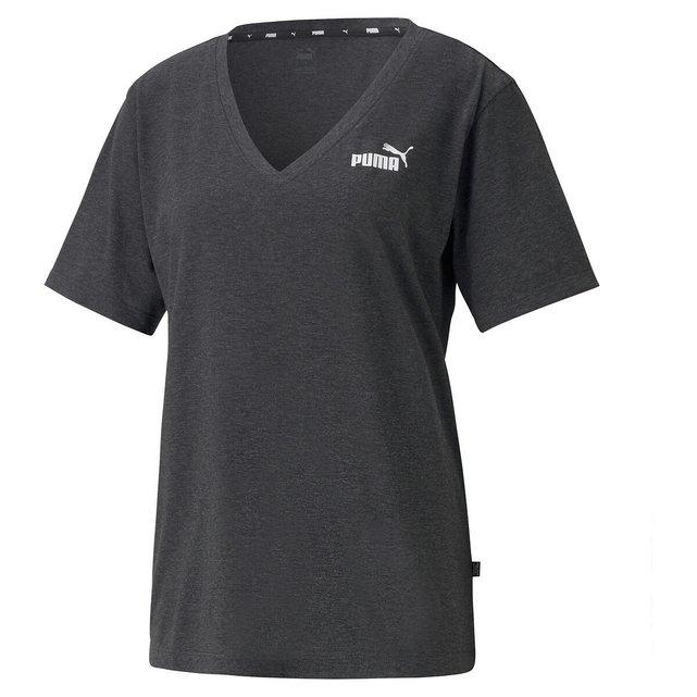 Κοντομάνικη μπλούζα με V και λογότυπο μπροστά