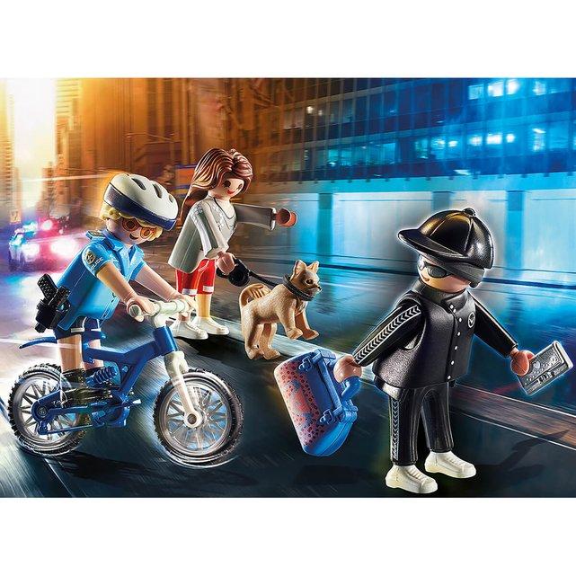 Αστυνομικός με ποδήλατο και πορτοφολάς