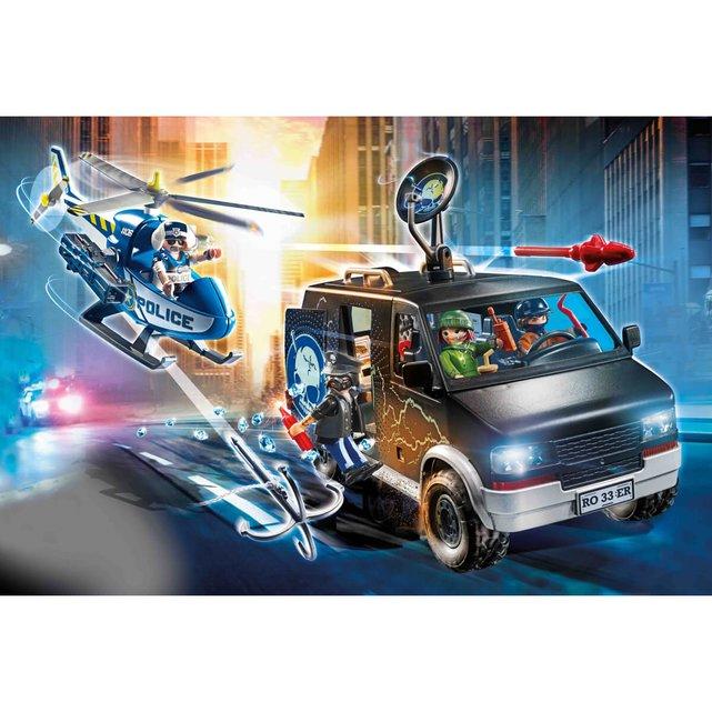Αστυνομικό ελικόπτερο και ληστές με βαν