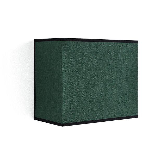Ορθογώνια απλίκα τοίχου από λινό, Thade