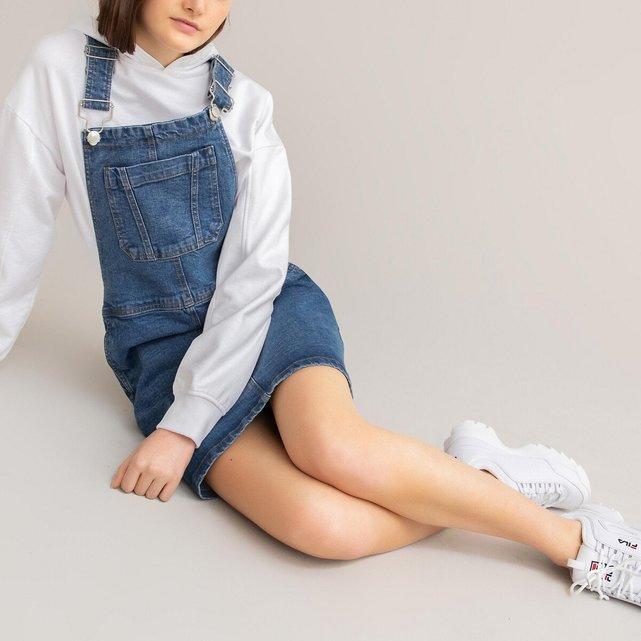 Τζιν φόρεμα σαλοπέτα, 10-18 ετών