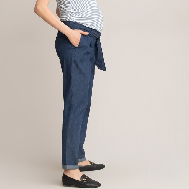 Παντελόνι εγκυμοσύνης από ελαφρύ ντένιμ