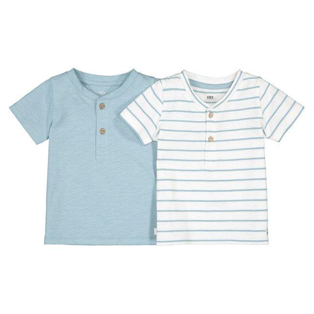 Σετ 2 κοντομάνικα T-shirt από οργανικό βαμβάκι, 1 μηνός - 4 ετών