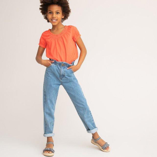 Κοντομάνικη μπλούζα με ανάγλυφα πουά, 3-12 ετών