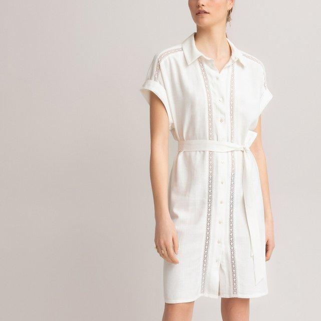 Κοντομάνικο σεμιζιέ φόρεμα